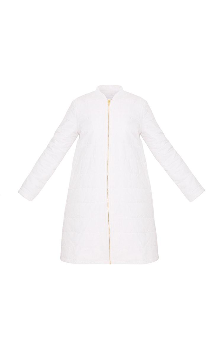 Jojena White Longline Puffer Coat 3