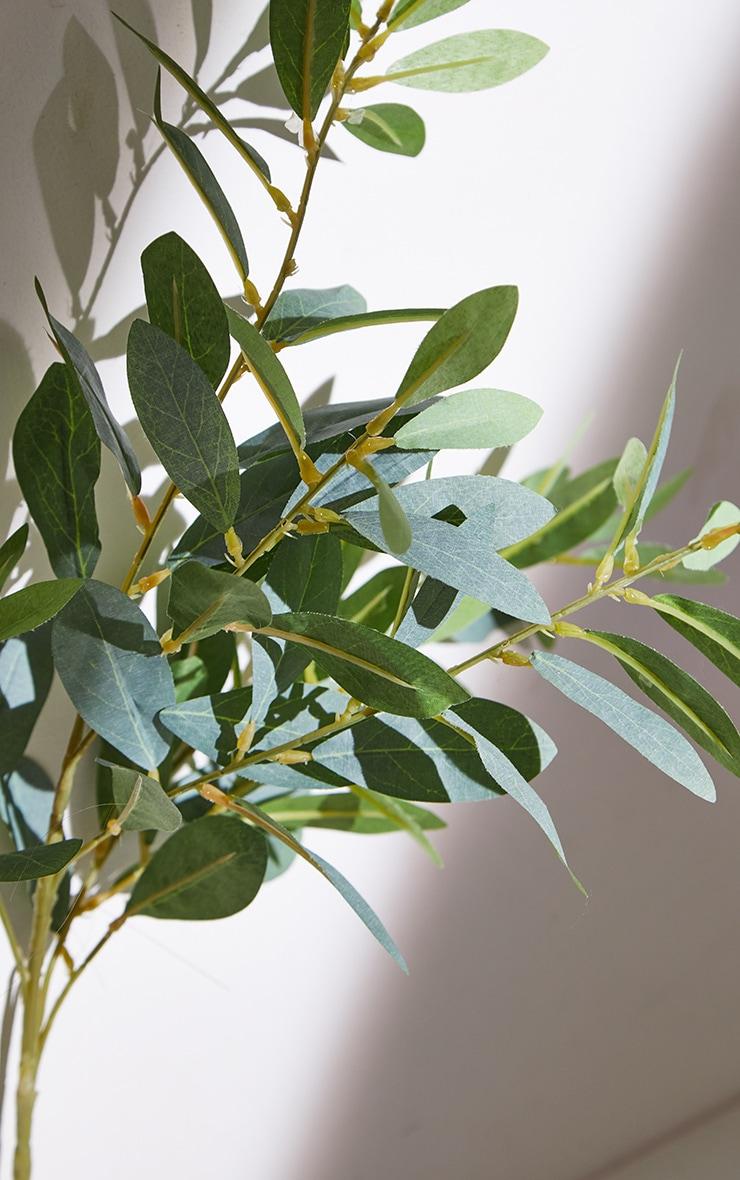 Green Silk Leaf Spray Branch Artificial Flower 5