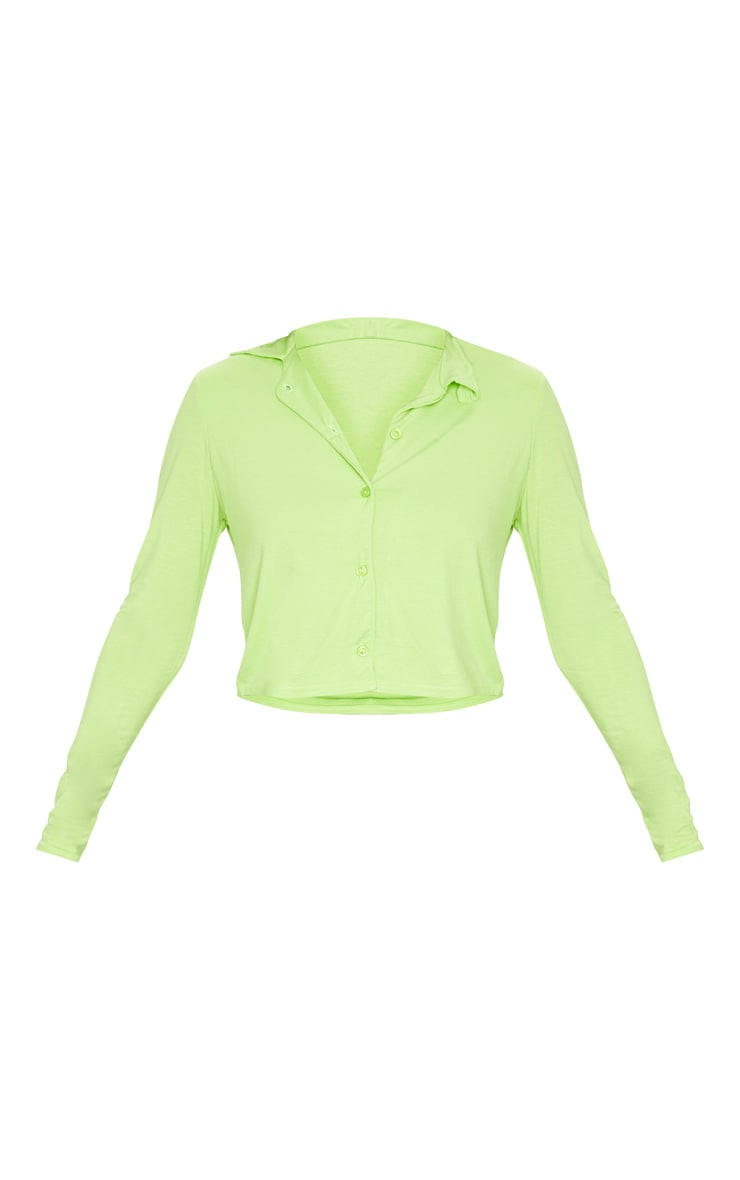 Lime Jersey Button Up Shirt 5