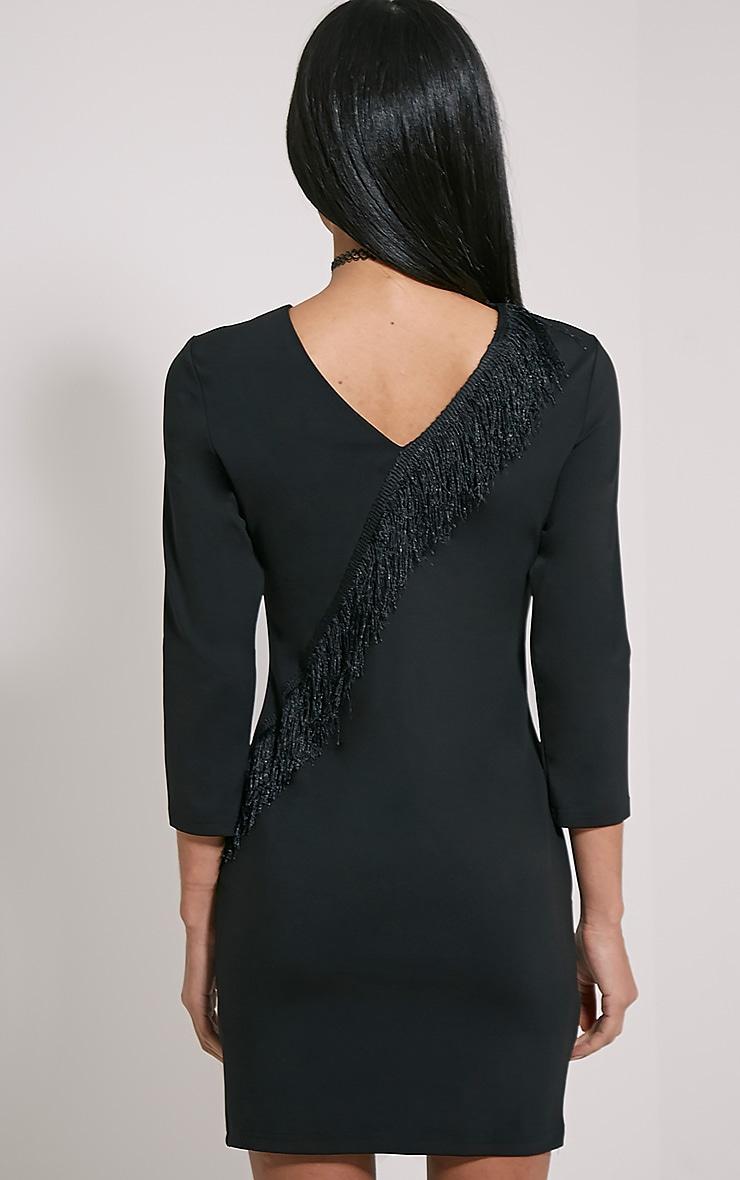 Anya Black Tassel Detail Dress 2