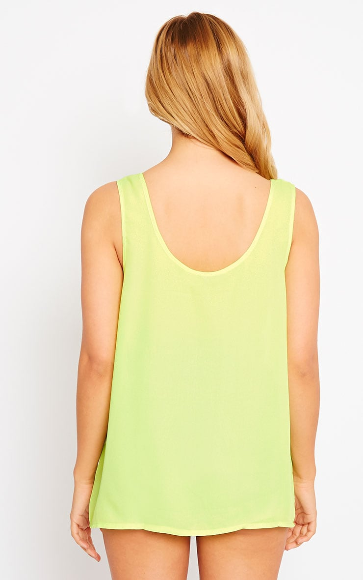 Lenny Lime Sheer Vest 2