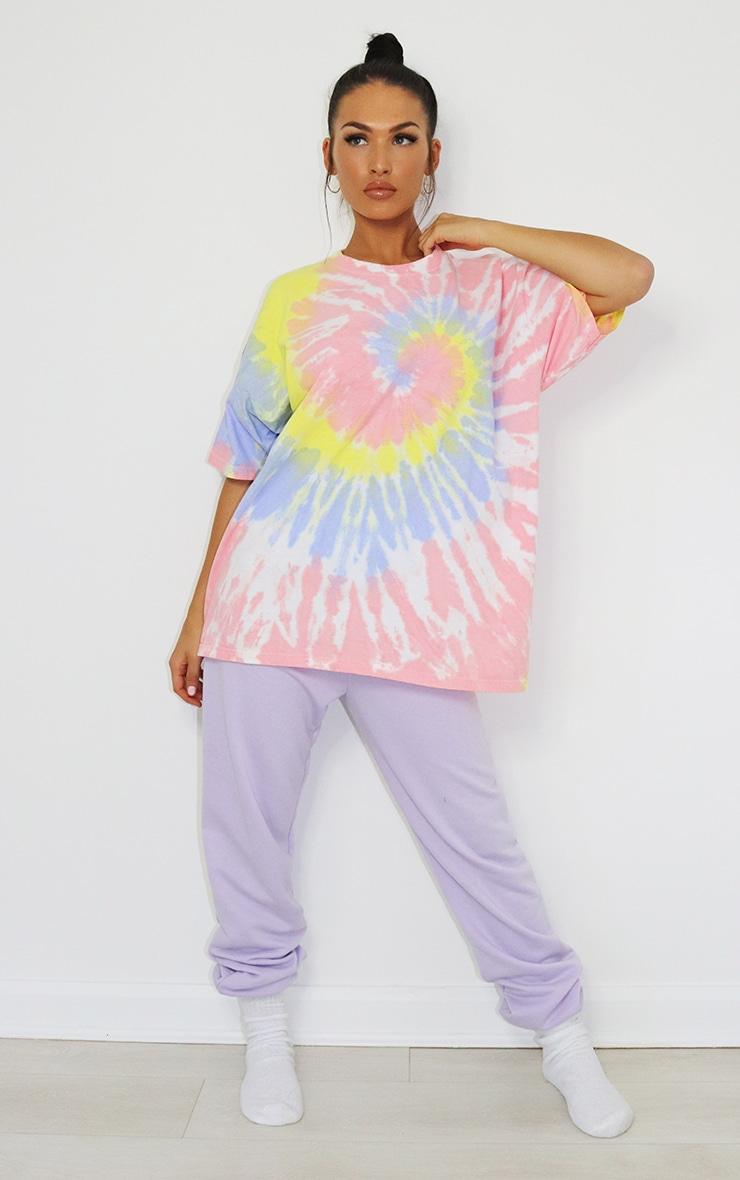 Baby Pink Tie Dye Oversized T Shirt 3