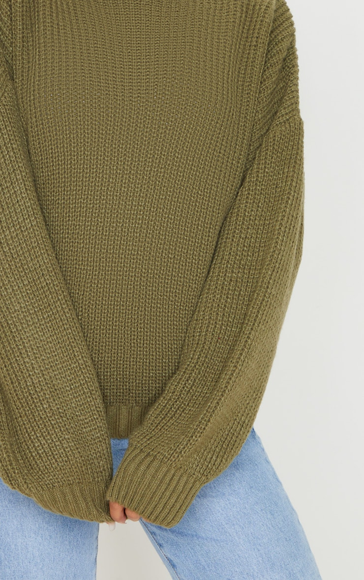 Khaki Balloon Sleeve Fluffy Jumper 5