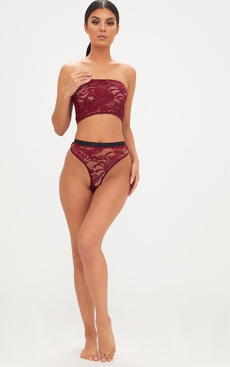 Burgundy Lace Knicker 4