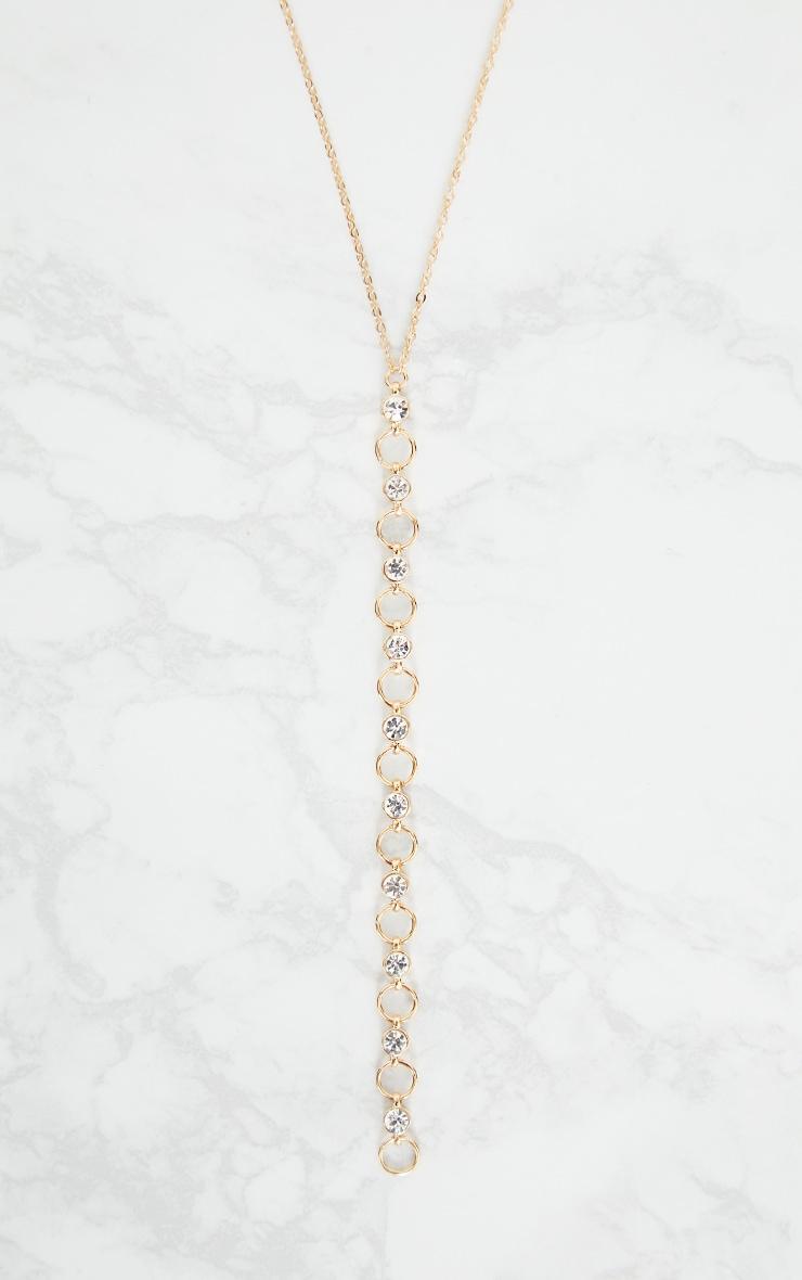 Gold Diamante Trim Drop Choker 3