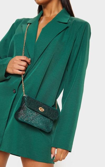 Green Tweed Cross Body Bag
