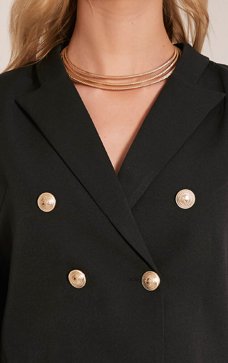 Dionne Black Cropped Military Style Blazer 6