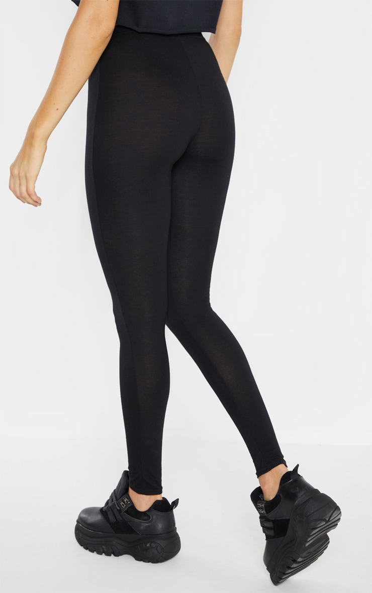Tall Black  Basic Jersey Leggings  4