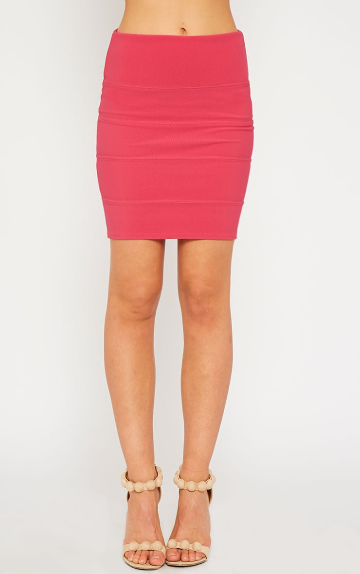 Anel Pink Bandage Mini Skirt 2