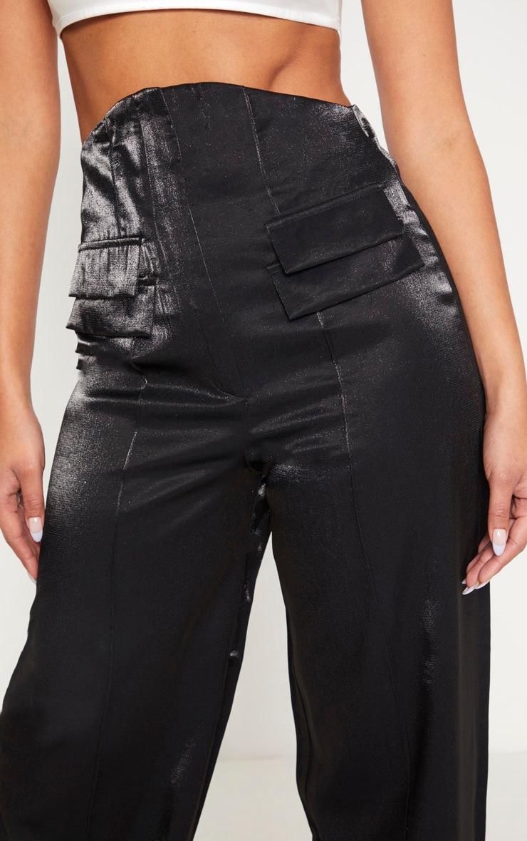 Black High Waist Corset Trouser 5