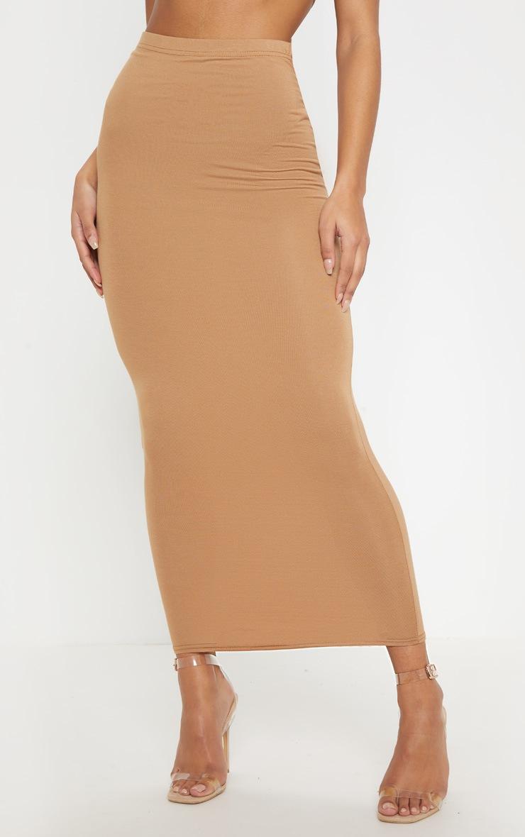 Chocolate, Black, Camel Basic Jersey Midaxi Skirt 3 Pack 10