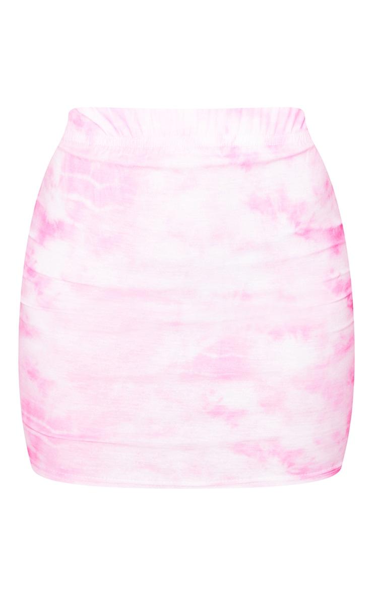 Pink Tie Dye Bodycon Skirt 6