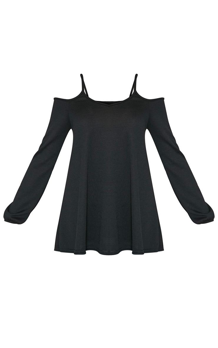 Dylis pull à manches longues et épaules dénudées noir 5