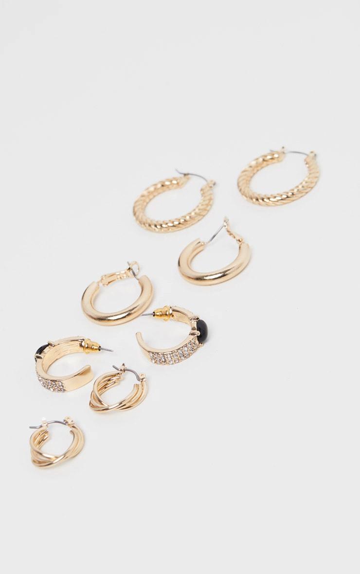Gold Multi Style Hoop Pack  1