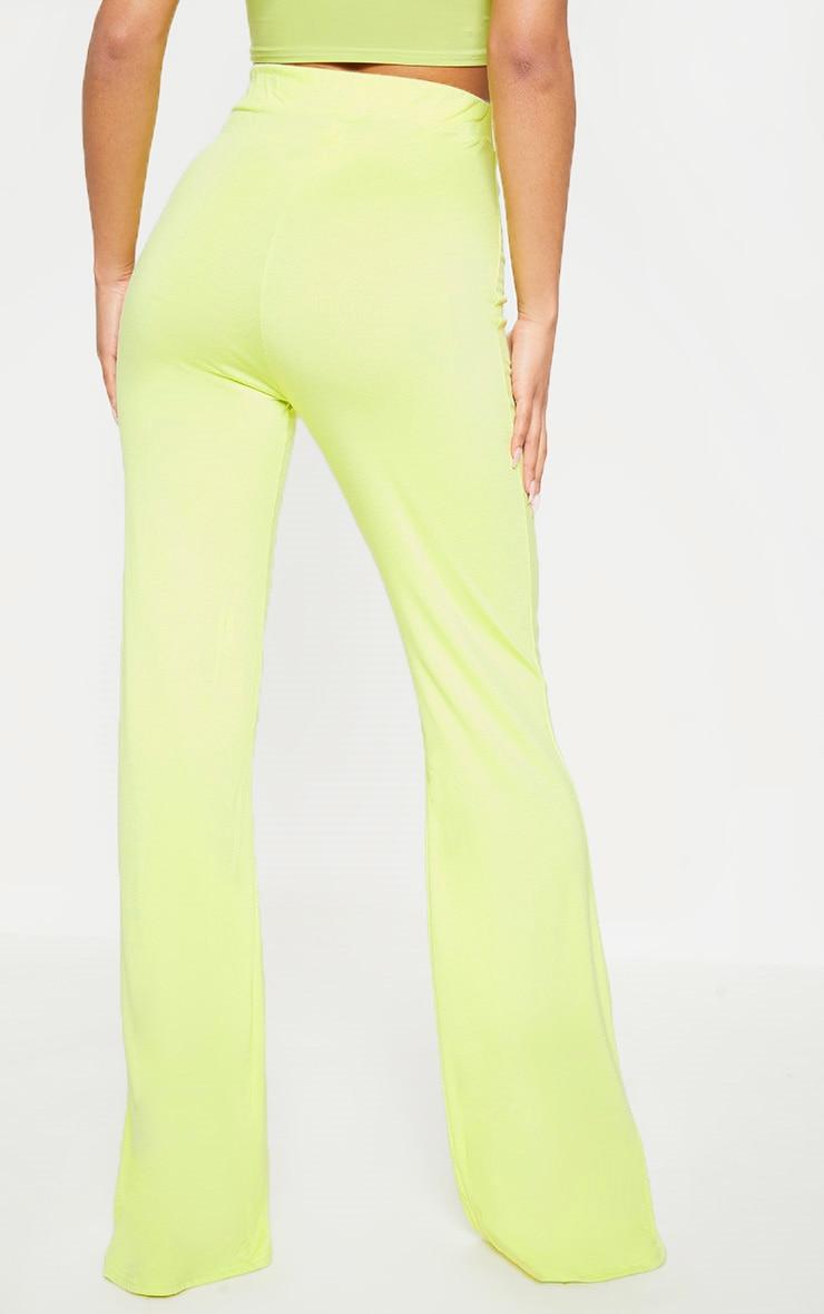 Lime Basic Wide Leg Trouser 4