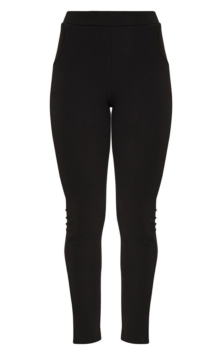 Sage Black Crepe Skinny Trousers 3