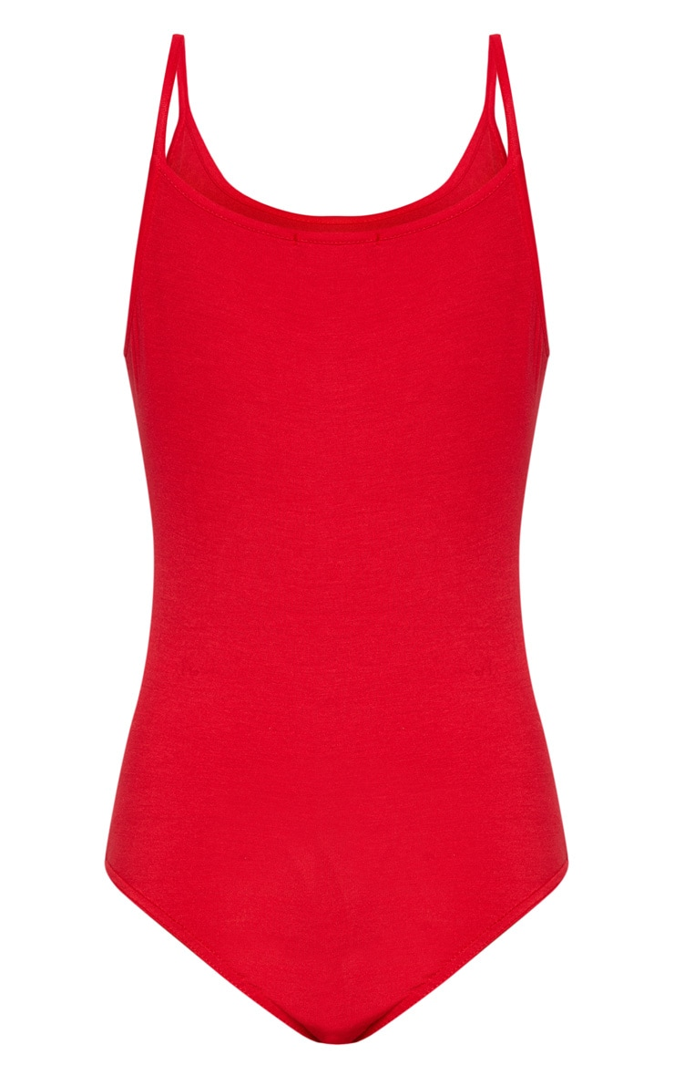 Basic Red Bodysuit 4