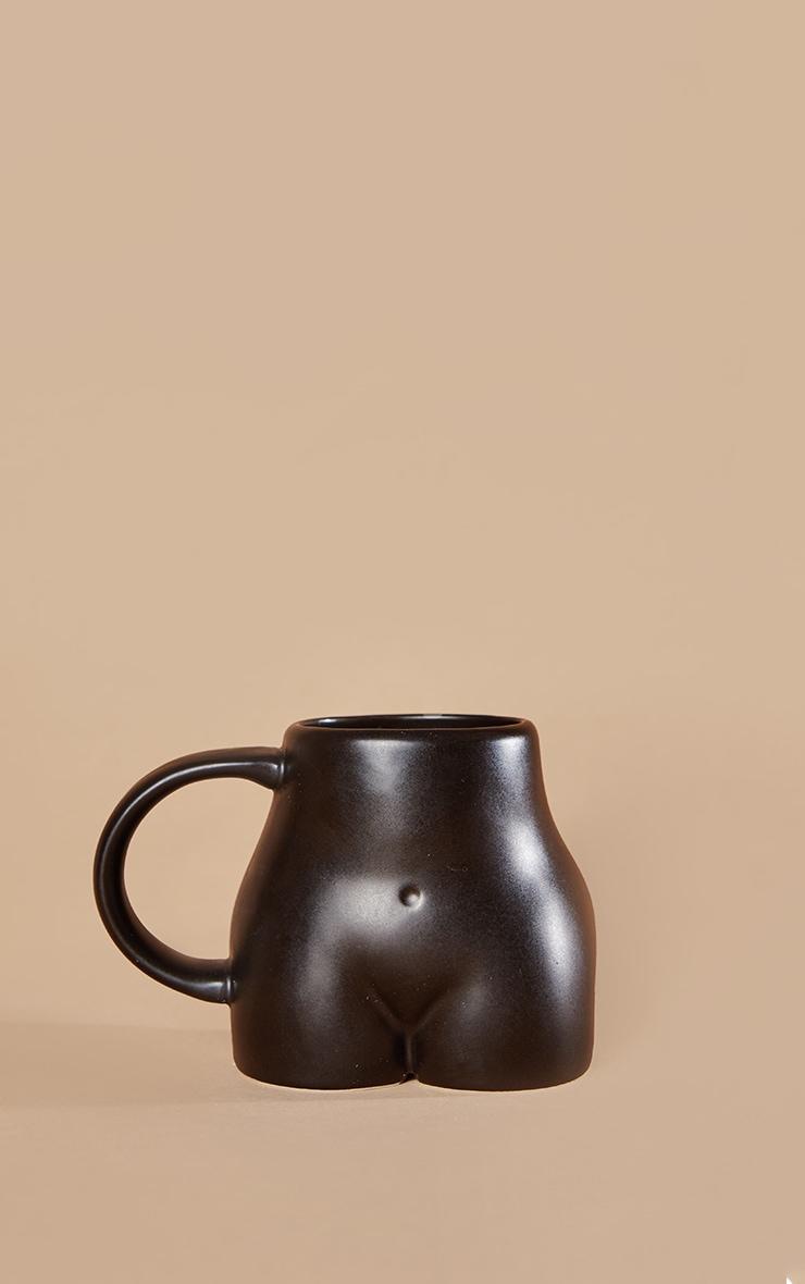 Black Ceramic Booty Mug 3