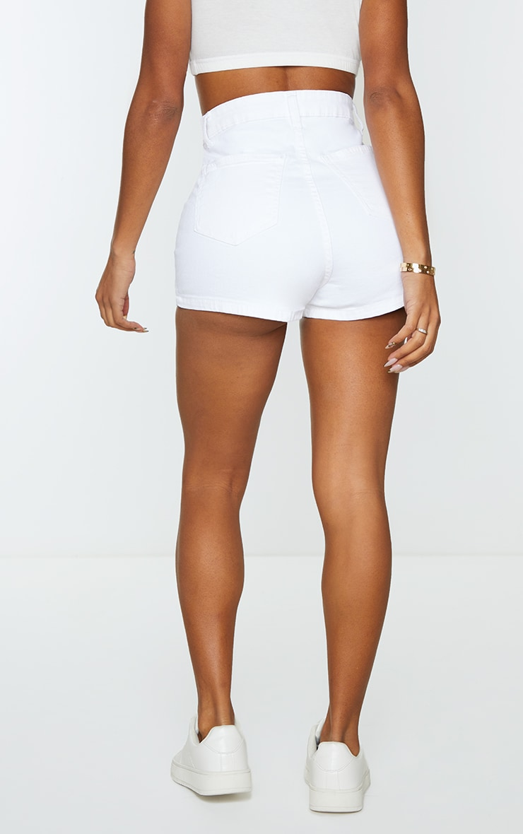 Shape White Disco Shorts 3
