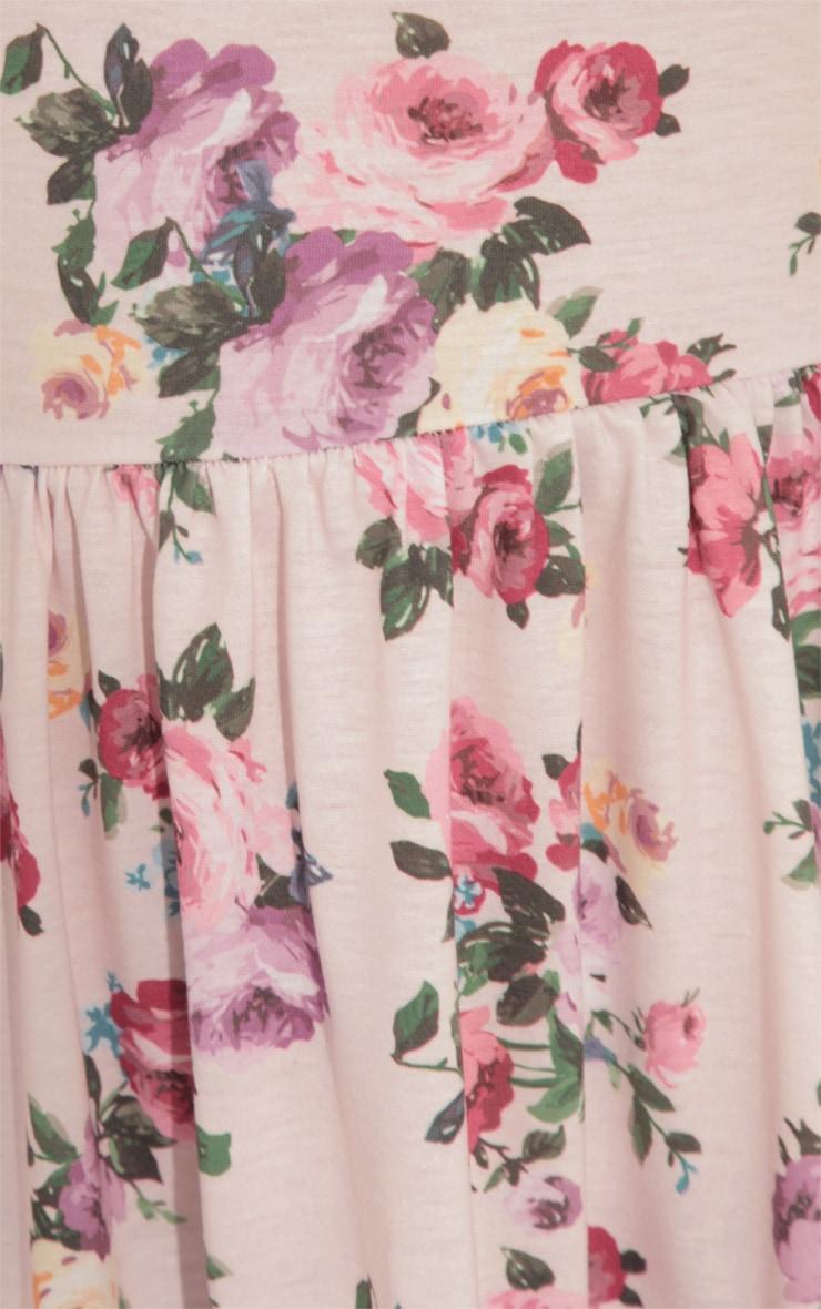 Christie Pink Floral Skater Dress 5