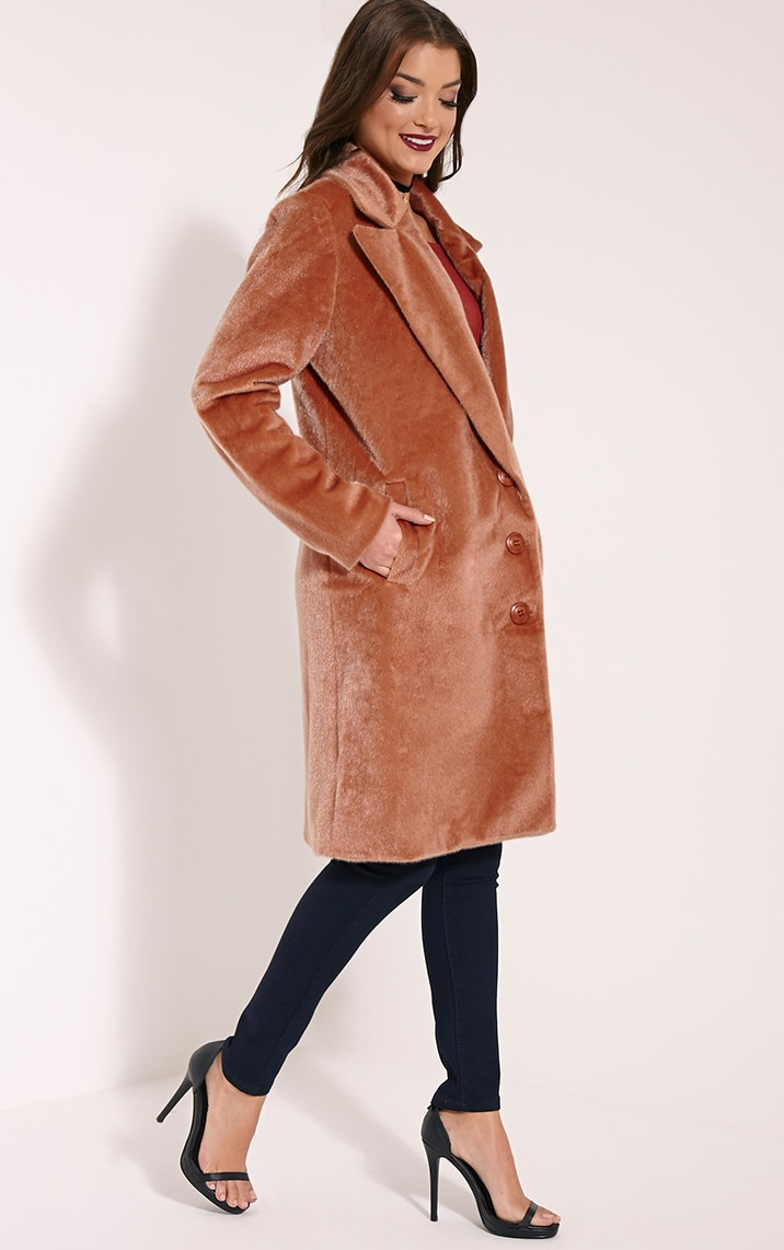 Perdita Rose Faux Pony Skin Coat 1