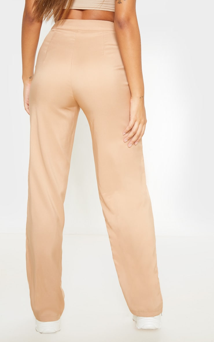 Beige Wide Leg Suit Trouser 4