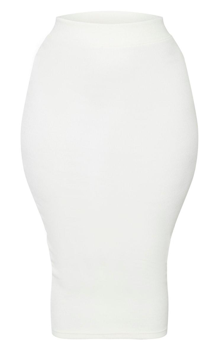 Shape Cream Ribbed Midi Skirt 3