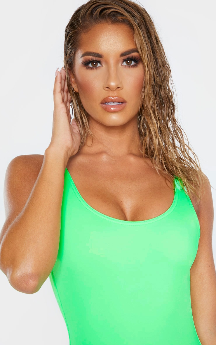Lime Low Back Swimsuit 5