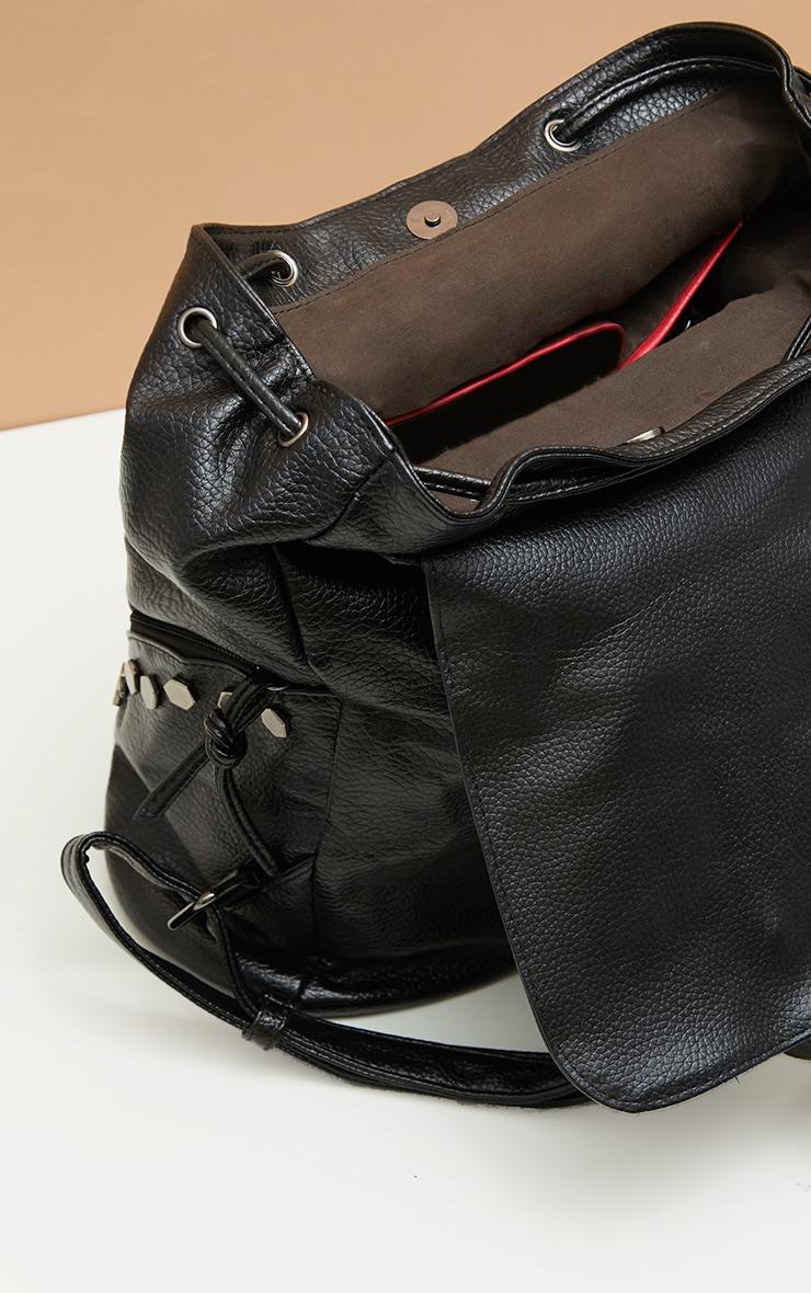 Black Studded Panel Rucksack 3