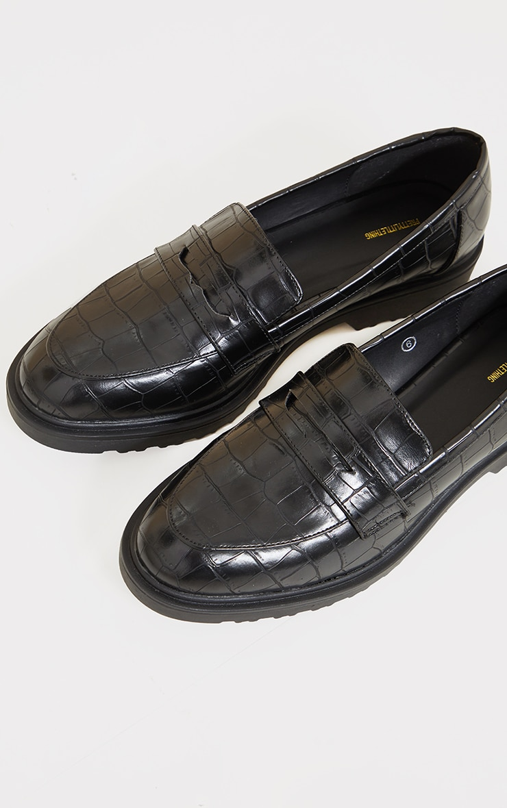 Black Patent Chunky Loafers 4