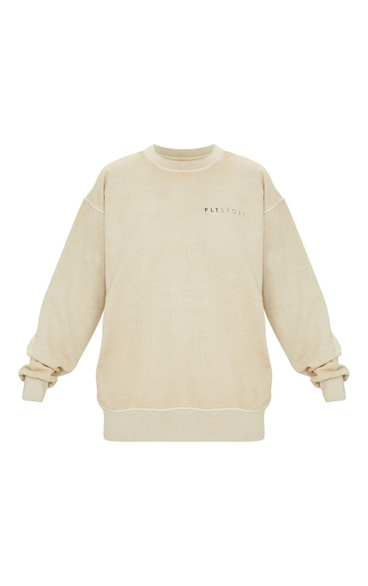 Sand Washed Oversized Sweater 5