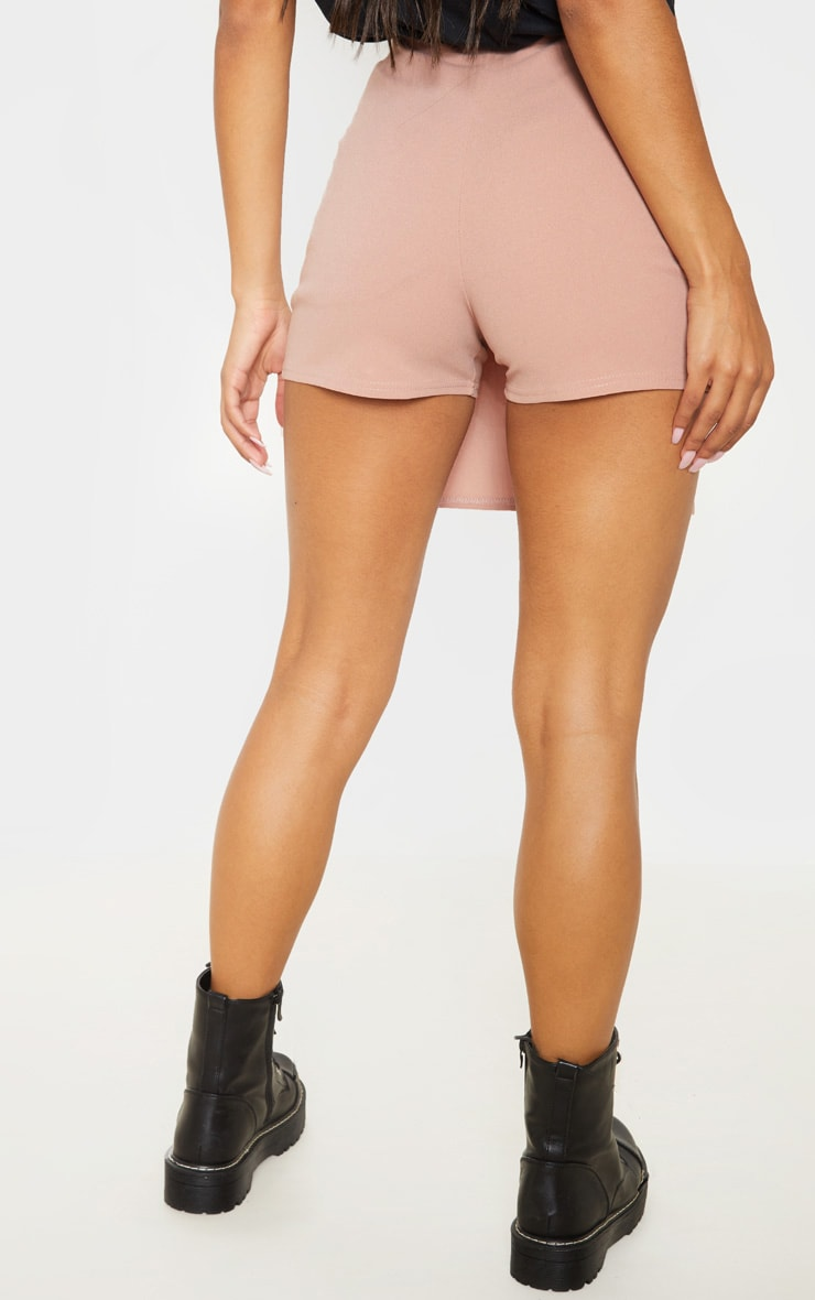 Blush Button Front Detail Skort  4