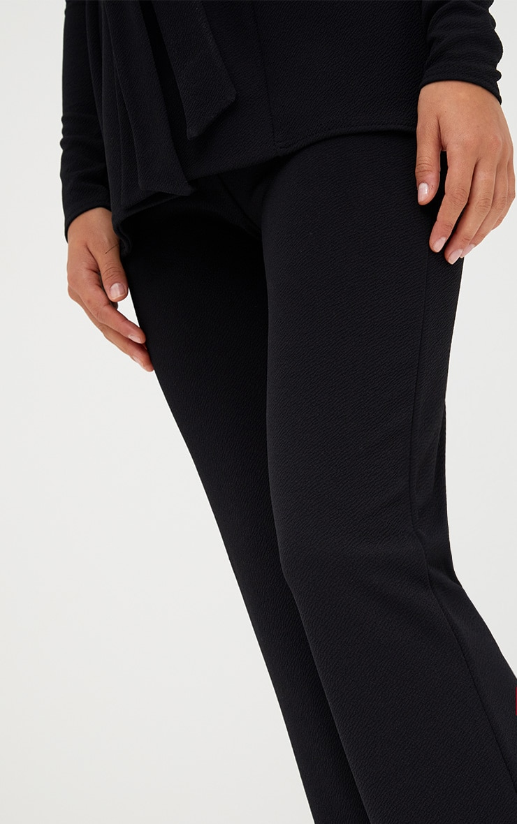 Black Straight Leg Suit Pants 4