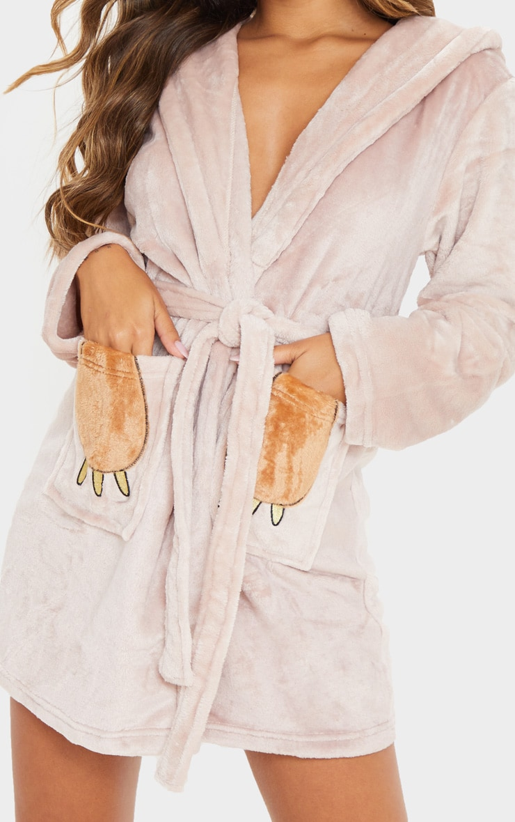 Beige Sloth Dressing Gown 5