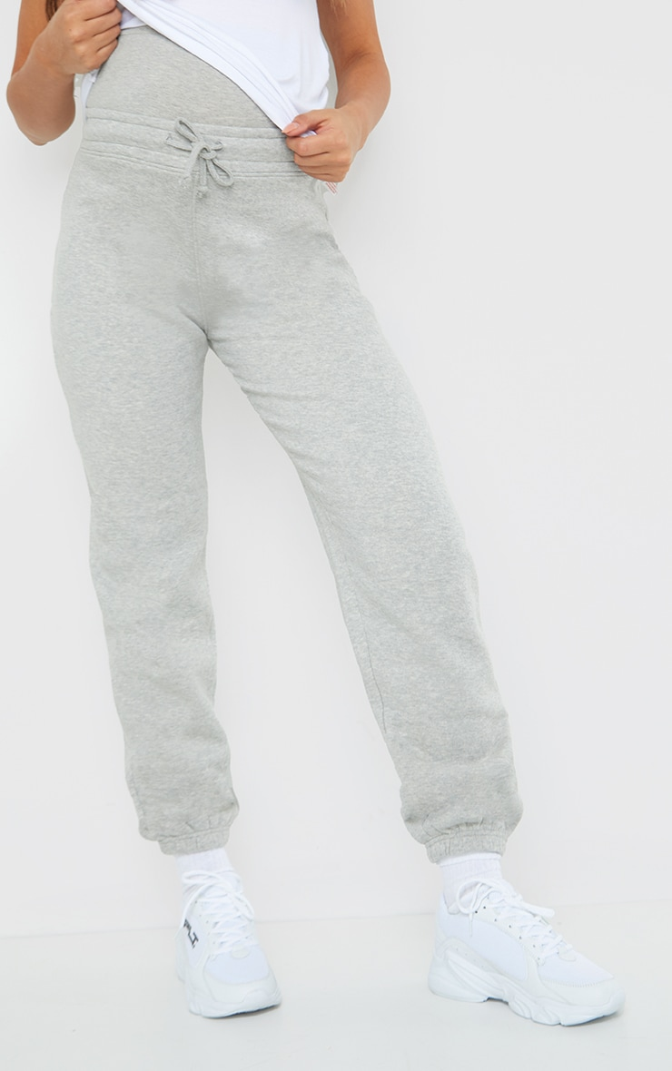 Maternity Grey Bump Support Joggers 2