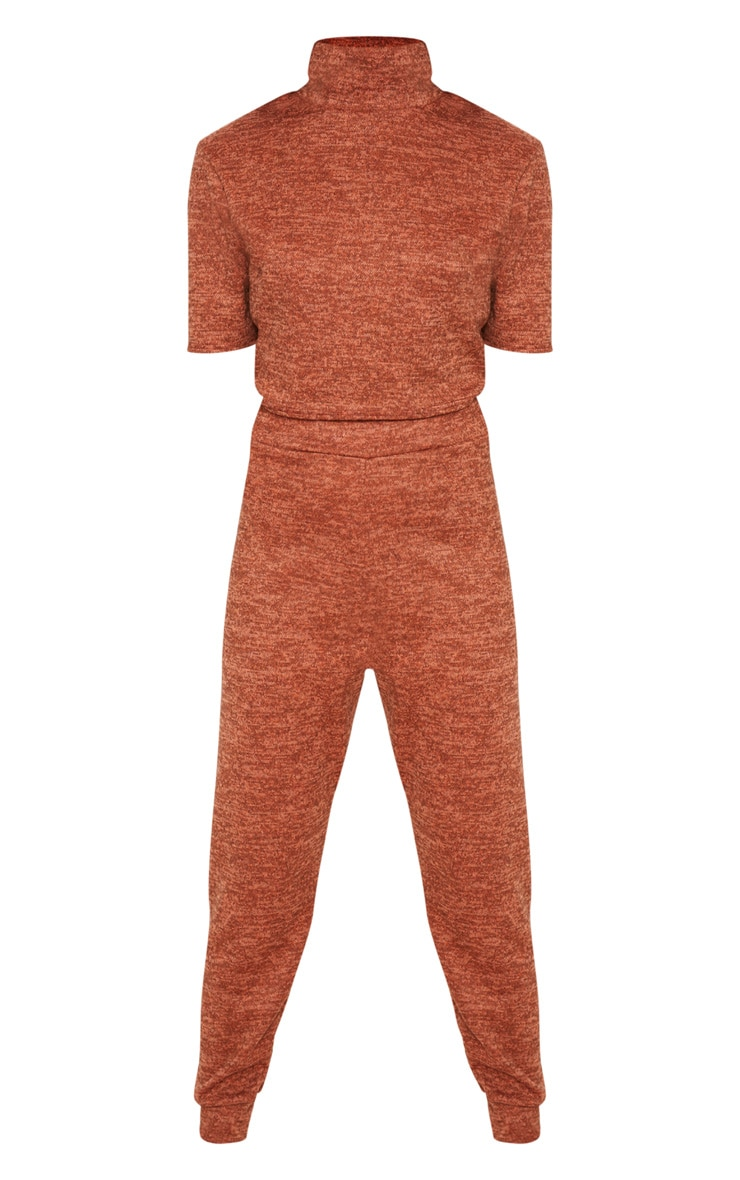 Rust Knitted Jogger Set 3