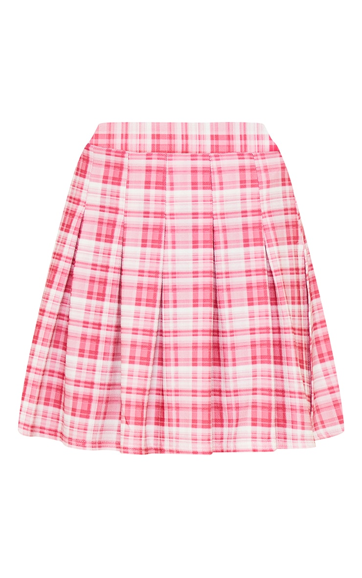 Pink Check Tennis Side Split Skirt 6