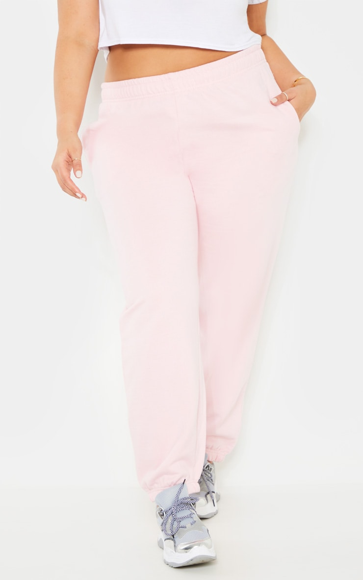 Plus Baby Pink Joggers 2