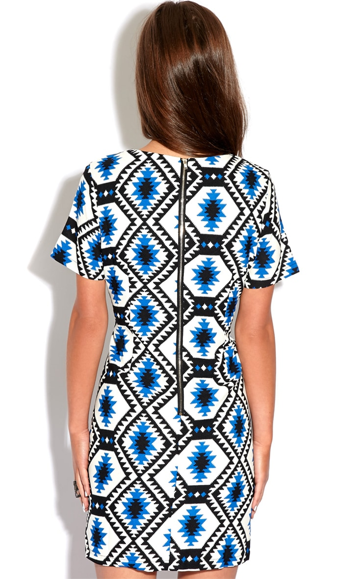 Millu Blue Aztec Print Dress-M 2