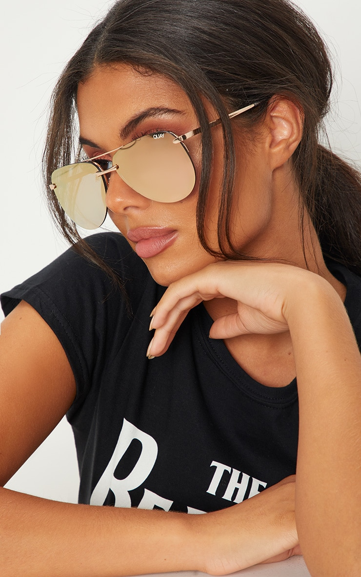 2b5b067b3c2 QUAY AUSTRALIA Pink The Playa Aviator Sunglasses image 1