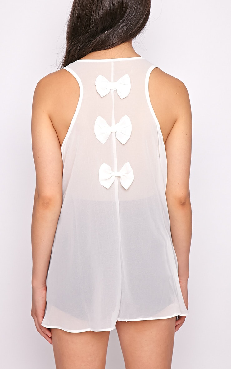 Lizzy White Studded Swing Vest  2