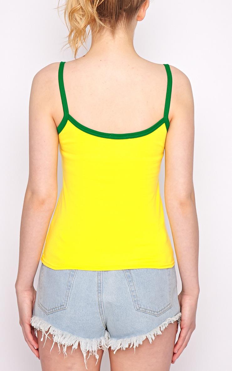 Evie Yellow Brazil Vest Top 2