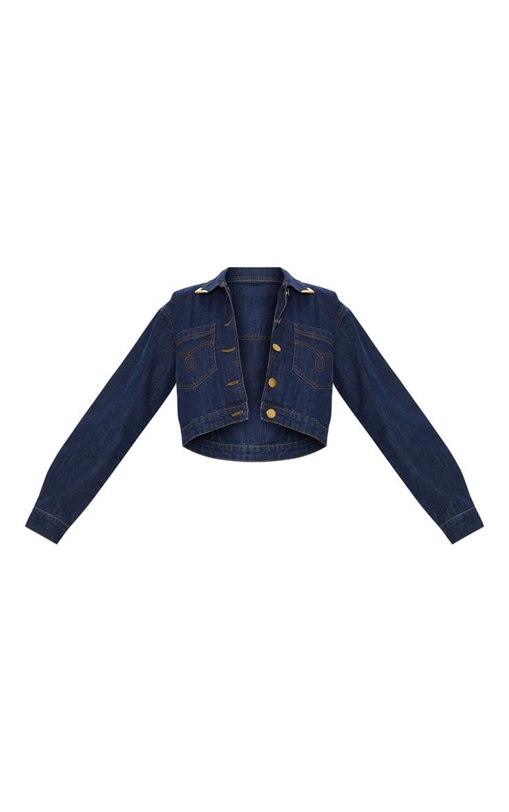 Mid Wash Tip Western Denim Jacket 3