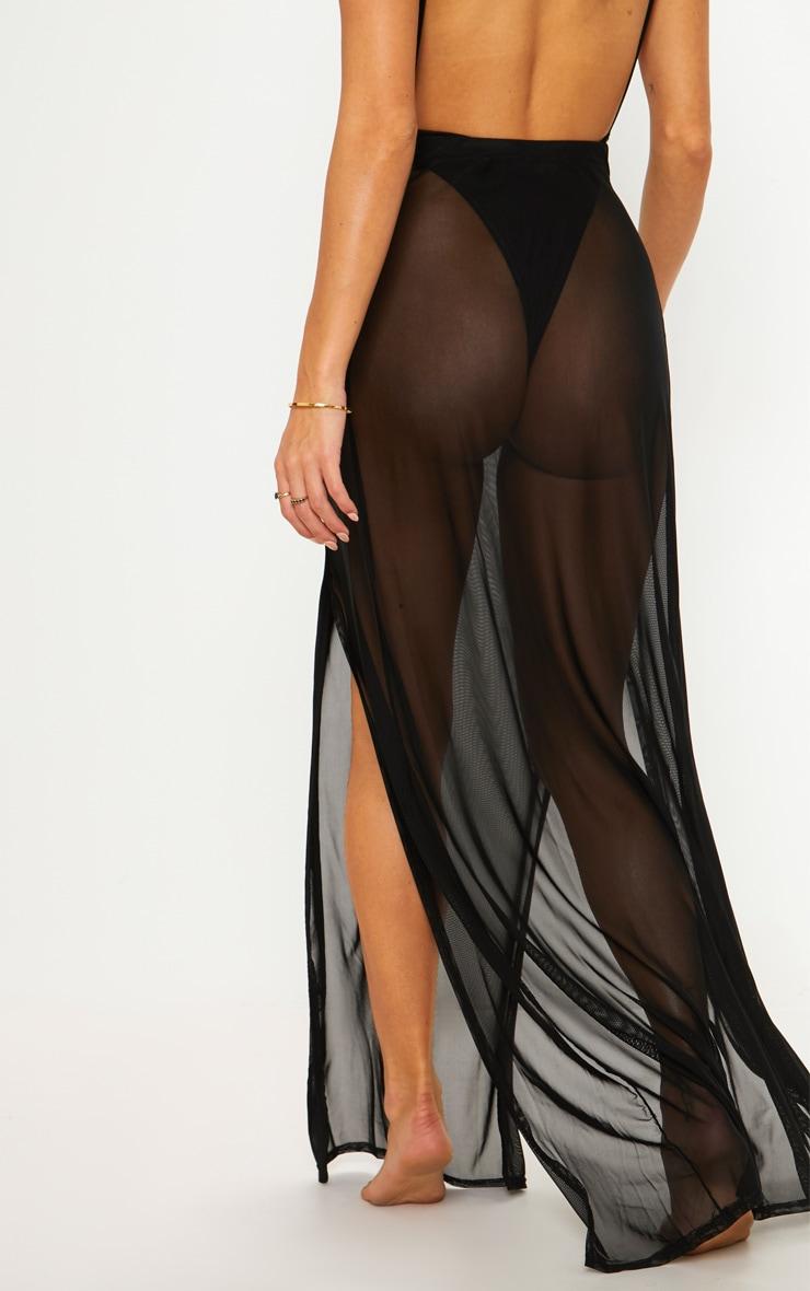 Black Lion Belted Mesh Beach Skirt 3