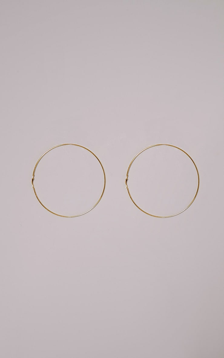 Jia Gold Oversized Hoop Earrings 3