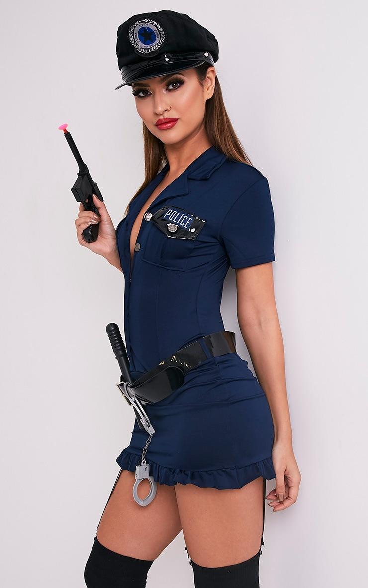 Police Officer Navy Fancy Dress Costume 3