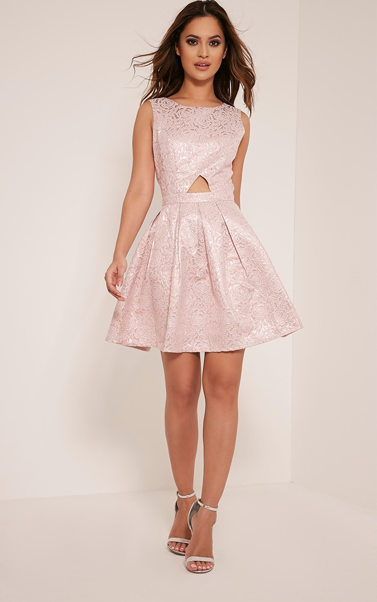 Tamzin Lilac Cut Out Baroque Prom Dress 5
