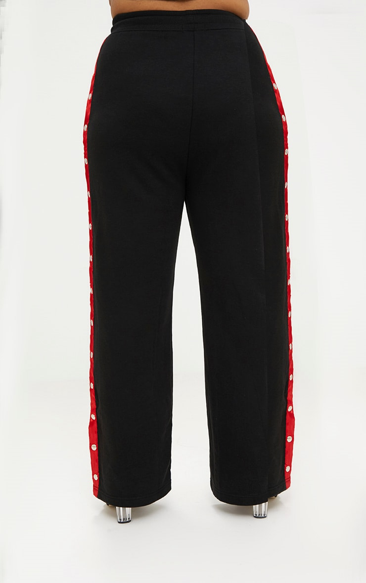 Plus Black Popper Side Joggers 4
