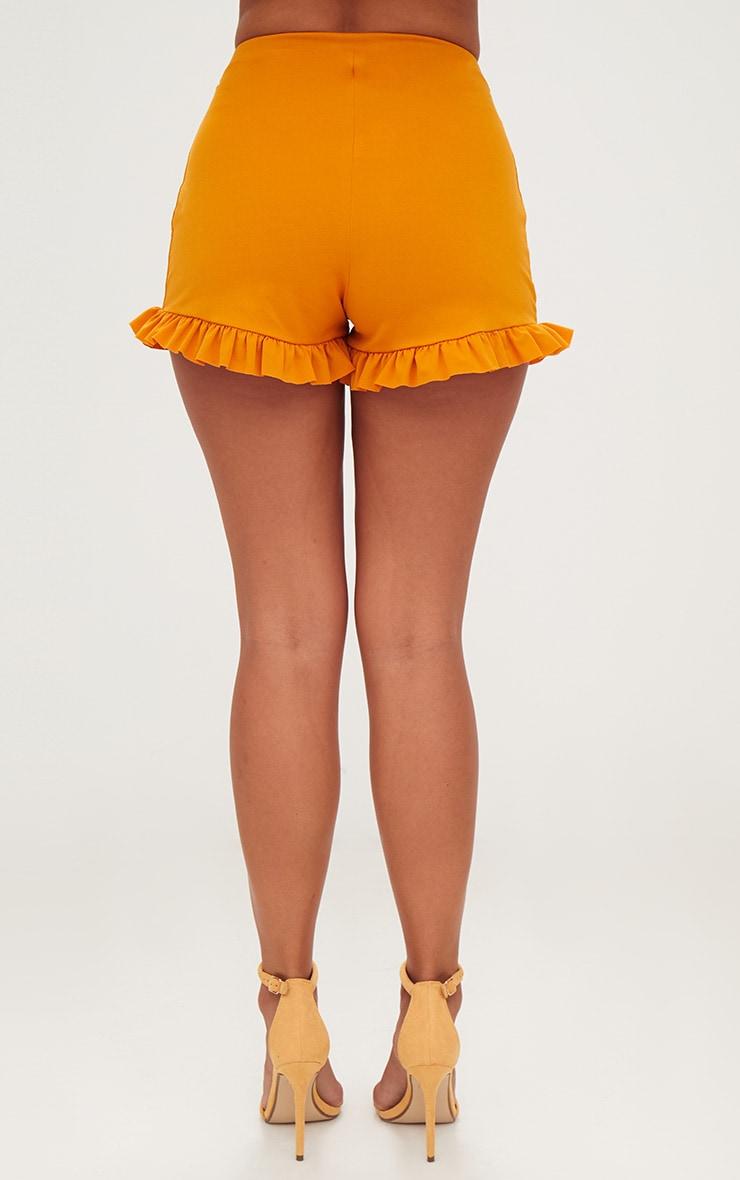 Mustard Frill Hem Shorts 4