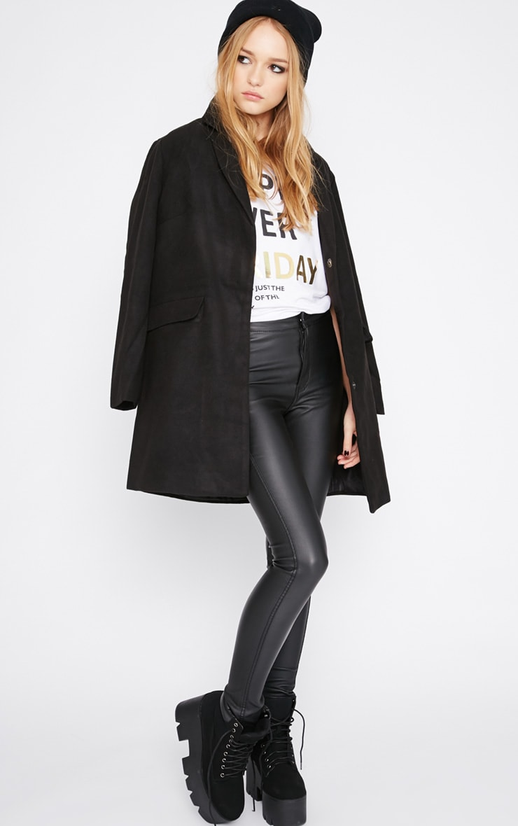 Emmie Black Boyfriend Coat  3